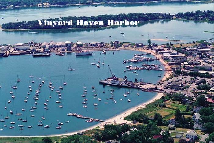 A neatly moored Vineyard Haven Harbor